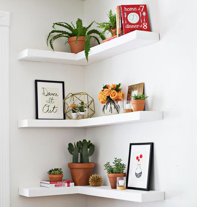 diy floating shelves guide and ideas corner lshaped