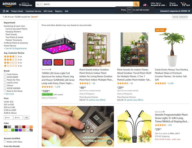 places buy plants online amazon