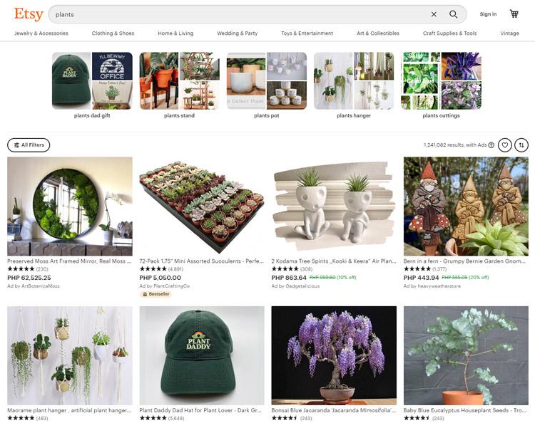 places buy plants online etsy