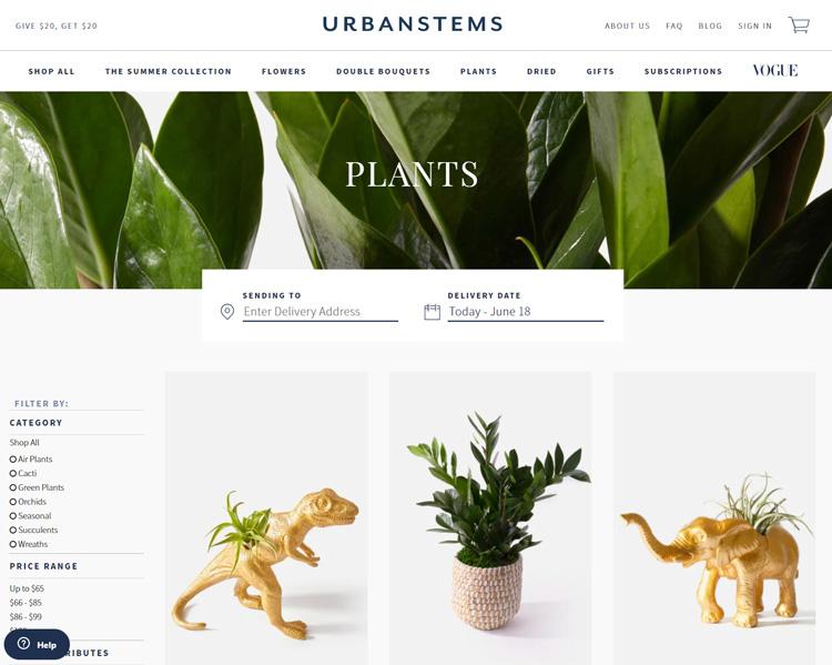 places buy plants online urbanstems