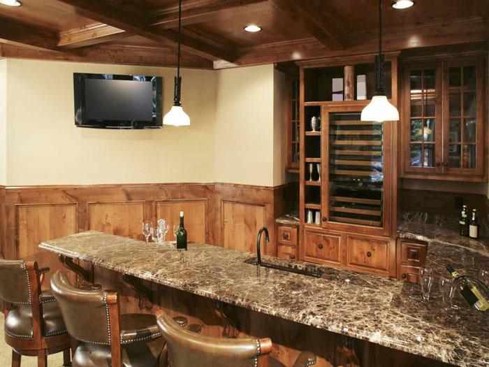 unfinished basement design ideas movie mini bar