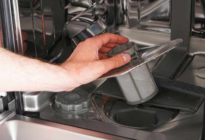 dishwasher not draining tips drain