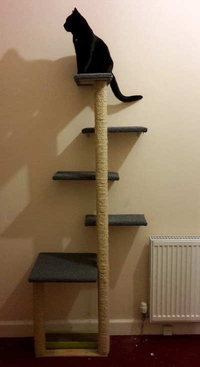 the ultimate diy cat tree multi level cat tree with fabric and jute rope